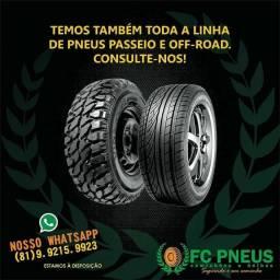 Temos toda a linha de pneus novos (carga e passeio)