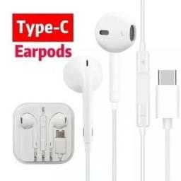 Fone de Ouvido EarPods Tipo C Original Reprodução de Músicas