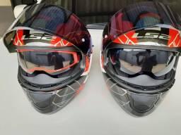 Título do anúncio: Vendo 2 capacetes LS2 usados 2 vezes!