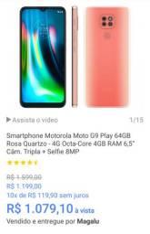 Motorola g9 na caixa