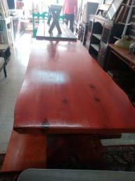 Título do anúncio: Mesa de madeira+ 2 bancos ( Itapeva SP)