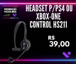 Título do anúncio: Headset Control Hs211 Para Ps4 - Newlink