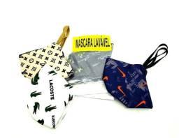 Kit 10 Máscaras Atacado Tecido de Proteção Lavável, Várias Marcas Sortidas