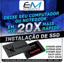 Título do anúncio: Instalação SSD / Deixe o seu Mac / Cpu / Notebook em até 20x Mais Rápido !
