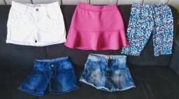 Título do anúncio: Shorts e shorts saia infantil ( Tam. 10 )