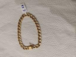 Pulseira de ouro 18 10 gramas 22 cm *