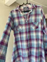 Camisa xadrez feminina . Tecido TAM 42