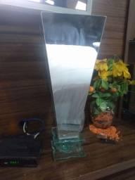 Título do anúncio: Vaso trapézio de vidro espelhado