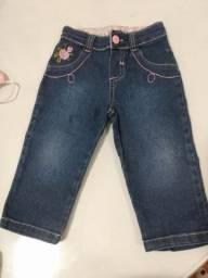 Calça jeans infantil tam. G (menina) R$ 10,00