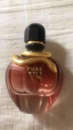 Frasco de perfume xs pure for her vazio de 80 ml