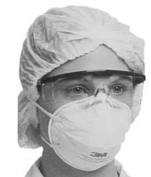 Máscara Proteção 3M PFF2 N95 - modelo 8801 - CA 2072