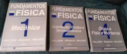 Fundamentos de Física, Halliday. Livros 1, 2 e 4. Usado