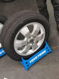 Título do anúncio: JG de rodas GM aro 15 com pneus ótimos