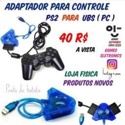 Adaptador para Controle de Ps2 para USB, Pc Notebook etc.. ( Produtos Novos )