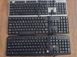 Vendo teclados e mouse