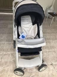 Carrinho e bebê conforto gazerano