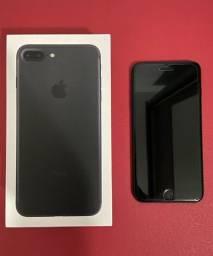 Troco Iphone 7 128GB -jet black com todos acessorios