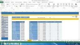 Planilha controle comercial para empresas com relatorios graficos  projeções