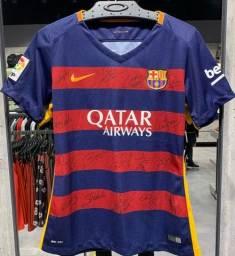Título do anúncio: Camisa autógrafada 15/16 Barcelona