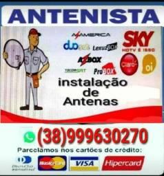 Título do anúncio: Instalador de antenas Sky Claro Oi tv