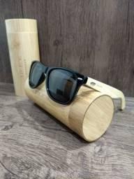 Óculos OLEY Bamboo (Polarizado) Preto