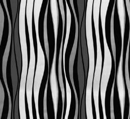 Título do anúncio: Promoção de papel parede adesivo com ondas preta e branca