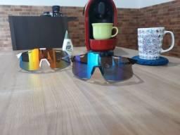Óculos de ciclismo branco preto 1 lente