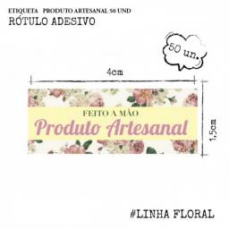 Título do anúncio: 50 Etiquetas Rótulo Adesivo Produto Artesanal