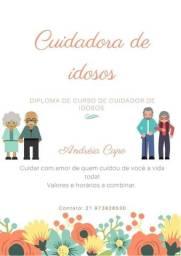 Título do anúncio: Cuidadora de idoso  domiciliar  ou hospitalar