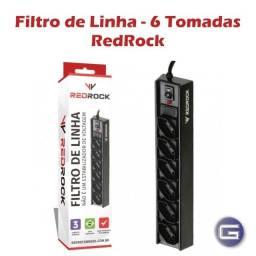 Título do anúncio: Filtro de Linha com 6 Tomadas Redrock