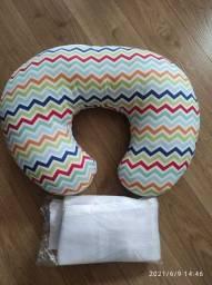 Almofada para amamentação e tela protetora para berço