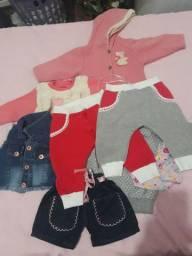 9 peças  de roupa apartir dos 3 meses  20 tiaras