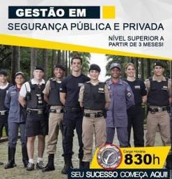 Título do anúncio: Curso Superior em Gestão de Segurança Pública e Privada - EAD, Inicio Imediato