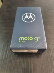 Moto g9 play 64 gb azul turquesa, novo - lacrado com nota fiscal e garantia.