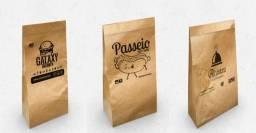 Serviços gráficos  Saco kraft sacola personalizada banner panfleto tags etc