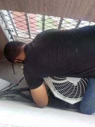 Instalação de ar-condicionado!