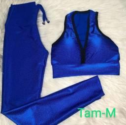 Conjunto fitness 3D tamanho M azul