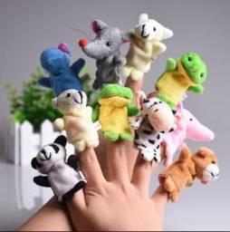 Fantoche de dedo. Kit com 10 peças/ animais de estimação.