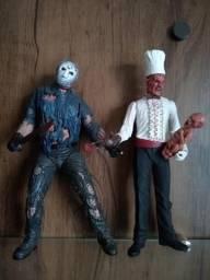 Boneco jason e Freddy Krueger
