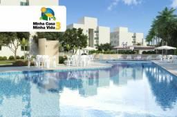 Reserva Atlântica Palmeiras - 02 Quartos, Sala P/ 02 ambientes, terraço, cozinha e 01 vaga