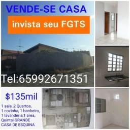 VENDO CASA 135mil