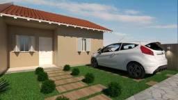 Casa 2 dormitórios, com pátio em Canoas, na Olaria, passagem lateral