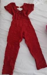 Macacão fitness Vermelho