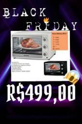 Forno eletrico função grill na Black Friday super promoção de fim de ano