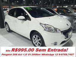 Peugeot 208 Active Pack 1.5/ Unico Dono - 2014