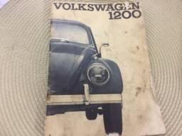 Manual VW Fusca 1200 ano 1962