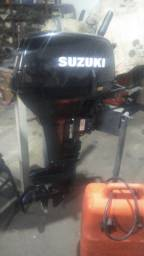 Motor de popa Suzuki 15 hp ano 2011 impecável somente 5850
