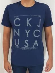 Kit 5 Camisetas M Masculinas Calvin Klein Algodão 30.1 Promoção