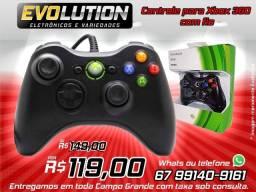 Controle Xbox 360 Promoção 119,00 aproveite