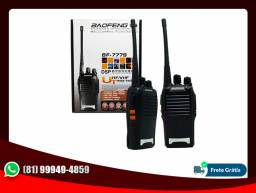 Kit 2 Rádios Ht Baofeng Walkie Talkie 16 Canais Bf-777s + fones